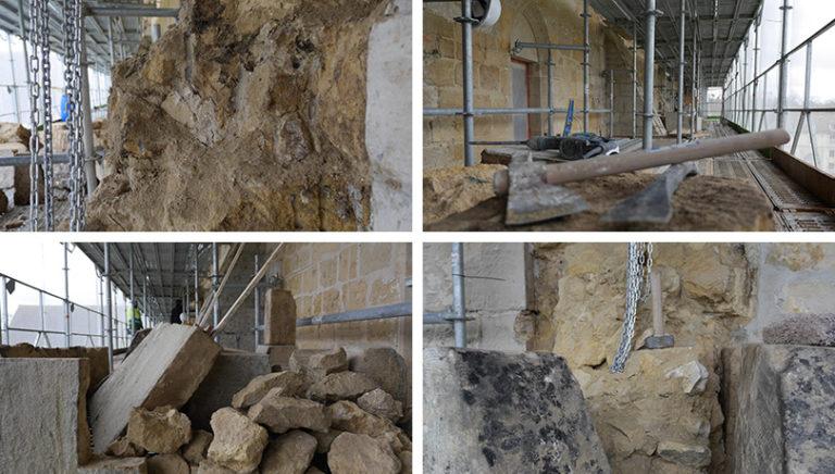 Restauration des contreforts de Royaumont