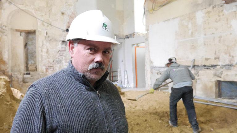 Chef de chantier à Royaumont