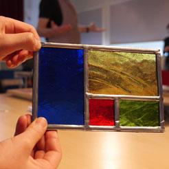 Un exemple de vitrail réalisé