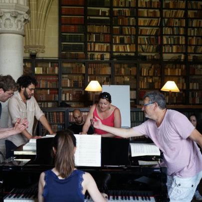 session de travail sur Don Giovanni, avec Moshe Leiser et Patrice Caurier