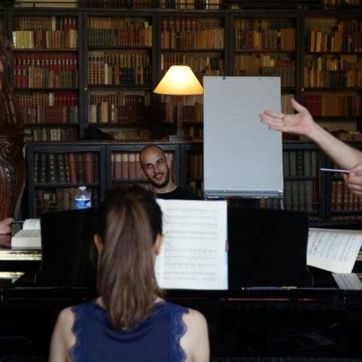 session de travail sur Don Giovanni