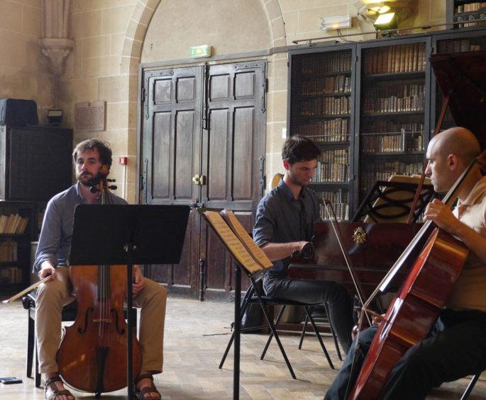 Pianiste et violoncellistes, formation Chopin