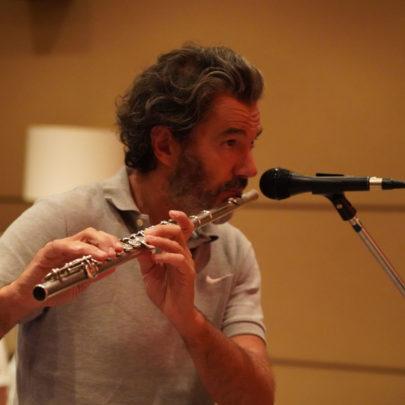 Jocelyn Mienniel à la flûte
