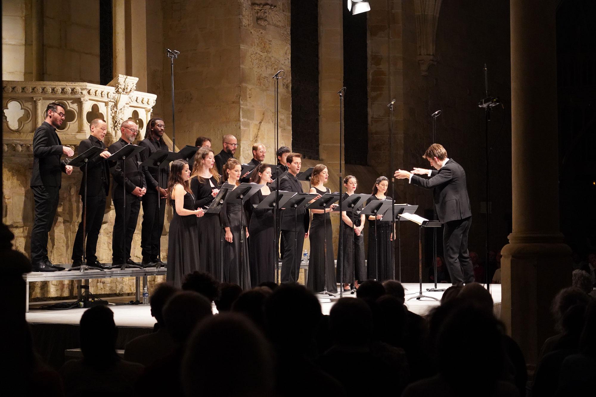 Concert des Métaboles dans le réfectoire des moines