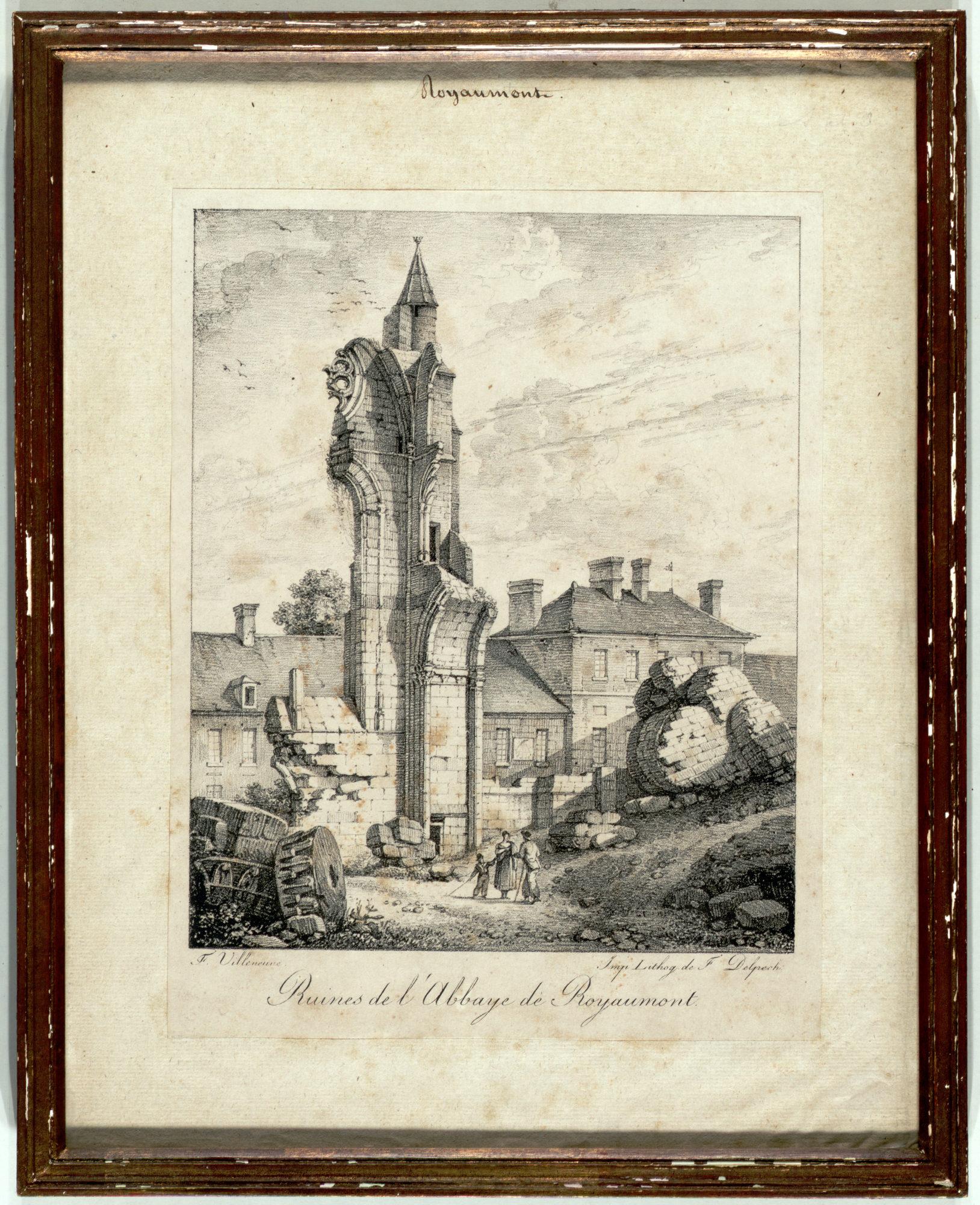 Restitution de l'angle Nord-Est du bras nord du transept par Pierre-André Lablaude